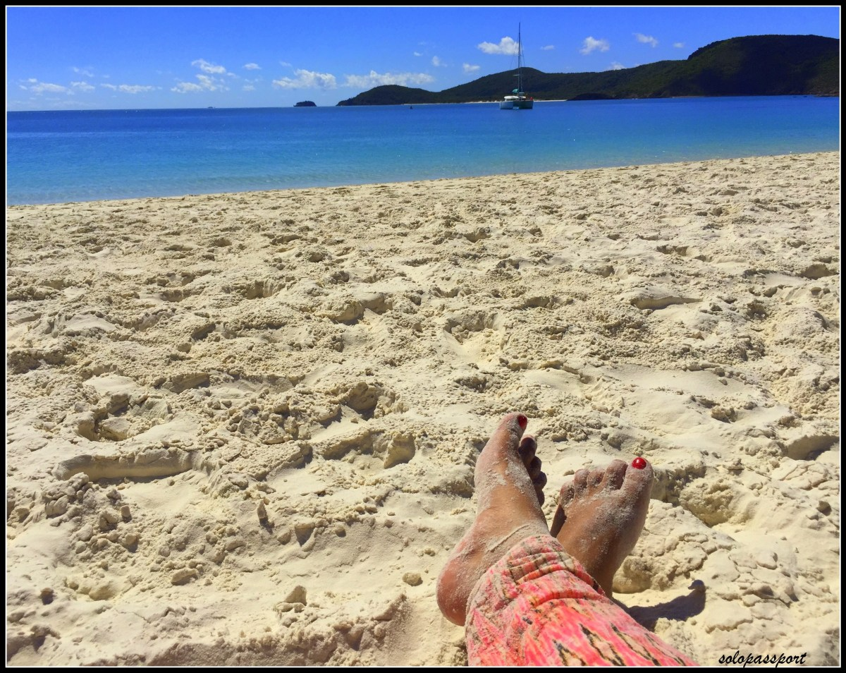 Always remember the Sunscreen in Australia (White Haven beach in Whitsundays)