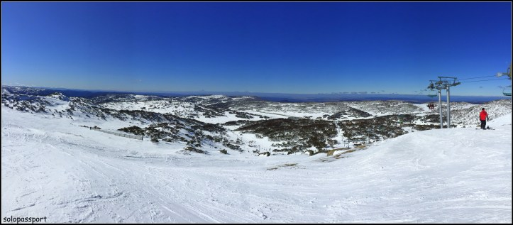 Panoramic view from Mt Perisher