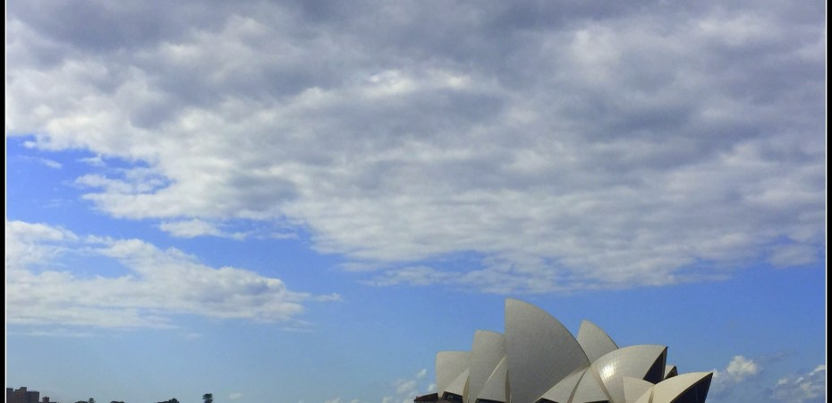 Quintessential date with self at Sydney Opera house