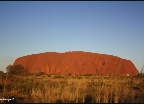 Changing colours of the big Sacred rock