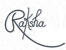 Raksha's signature