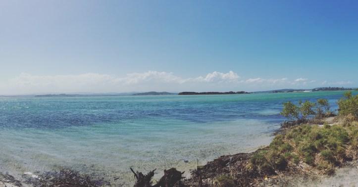 Ocean blue water Lake Macquarie