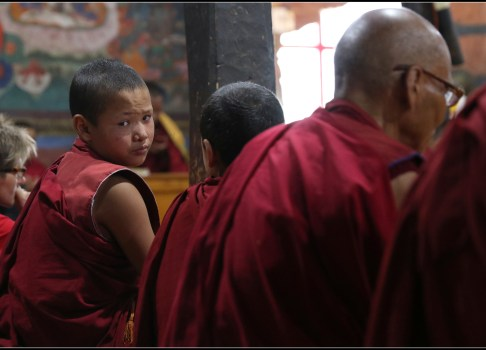 Prayers at Thiksey monastery