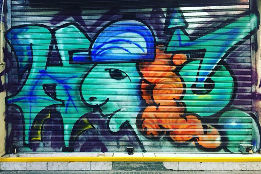 Street art in Santiago 💕