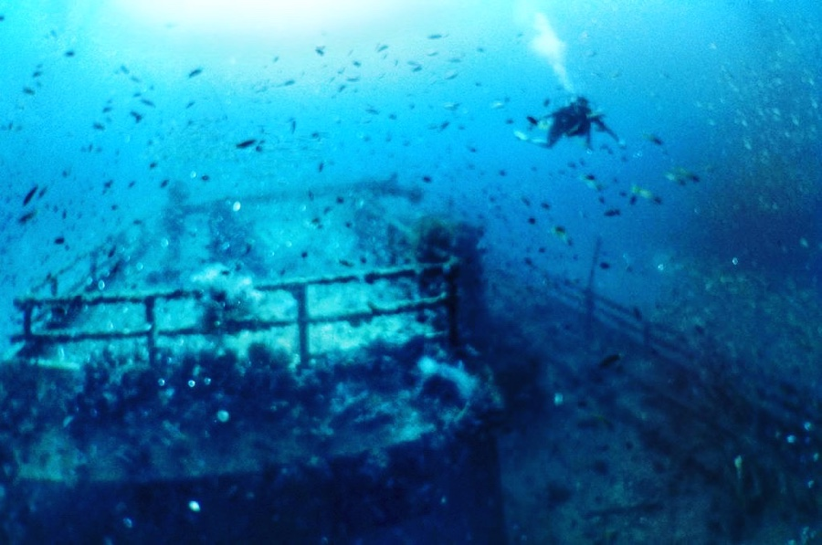 Scuba diving in Dolphin Wreck (Brunei)