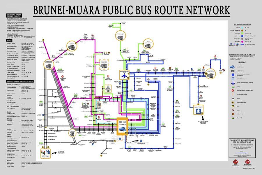 Brunei Public Transport Map