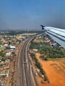 Flight shot in Bhubaneshwar
