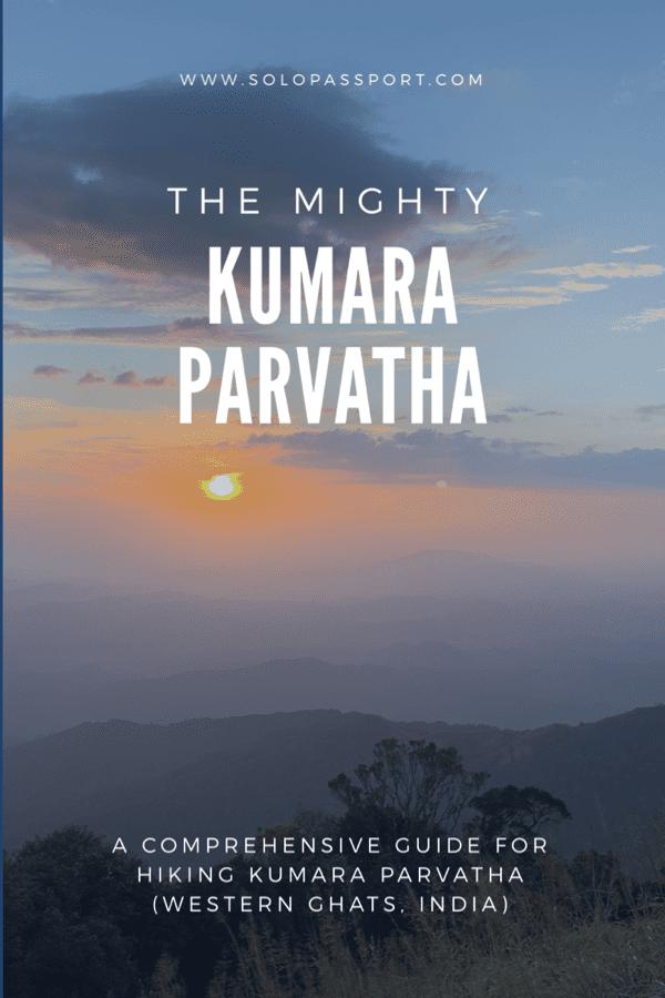 Hiking Kumara Parvatha
