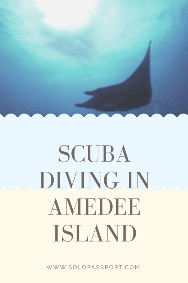 Scuba diving in Amedee Island (New Caledonia)