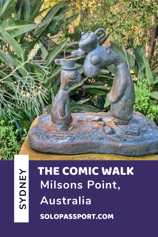 The Comic Walk in Sydney