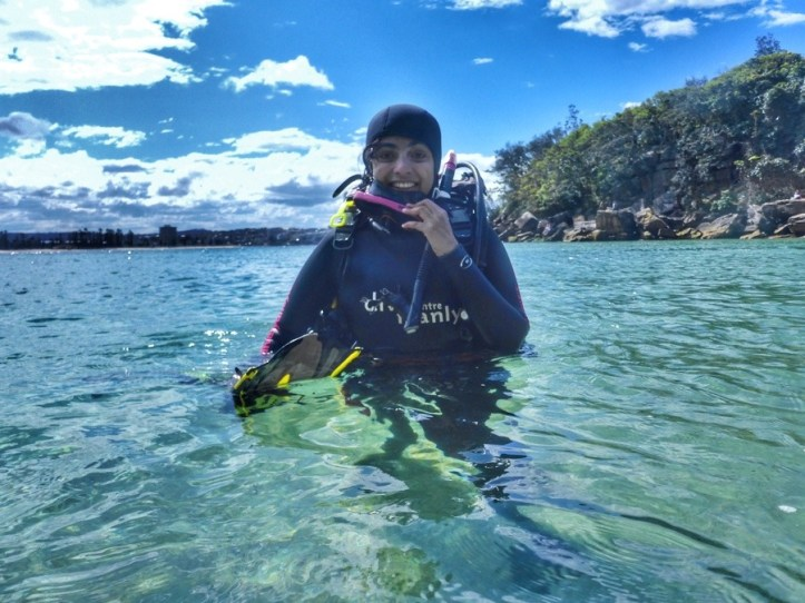 After a dive at Shelly beach
