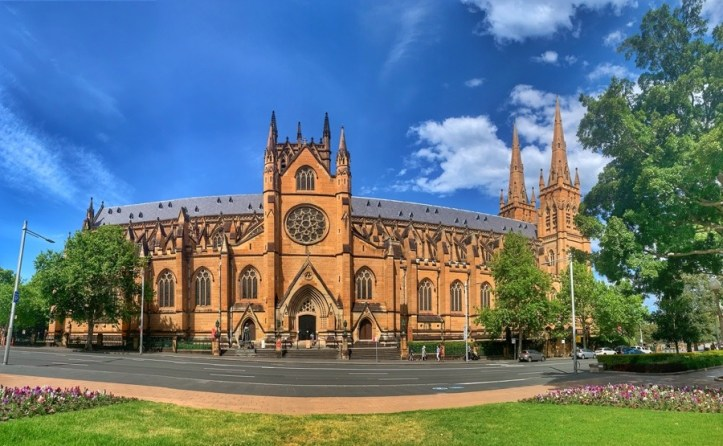 A panoramic view of St Mary's Cathedral | Sydney