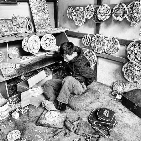 Pema Tshering at his work