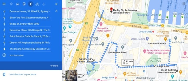 Map - Customs House to The Big Dig