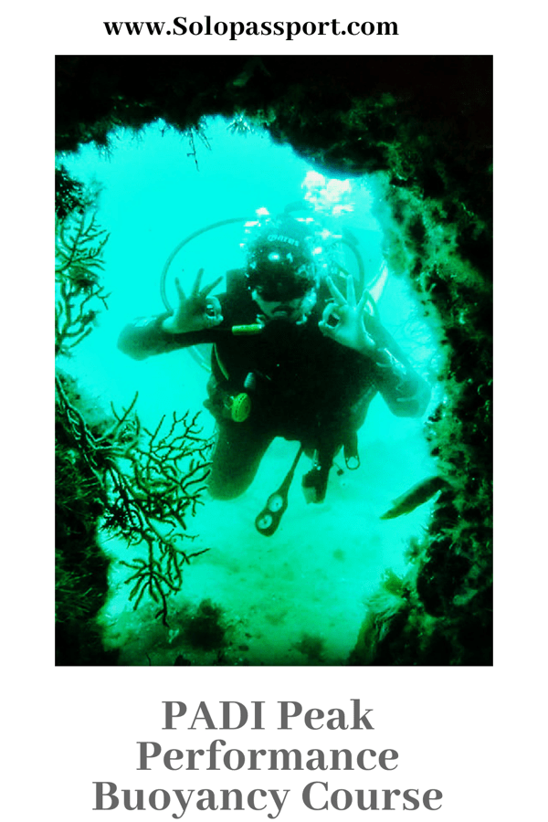 PIN for later reference - Information on PADI Peak Performance Buoyancy Specialty course