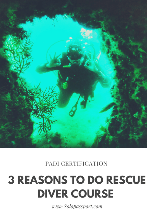 PIN for later reference - 3 reasons to do PADI Rescue diver certification
