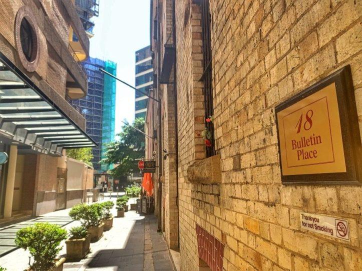 Sydney History Walk at the Rocks - First newspaper