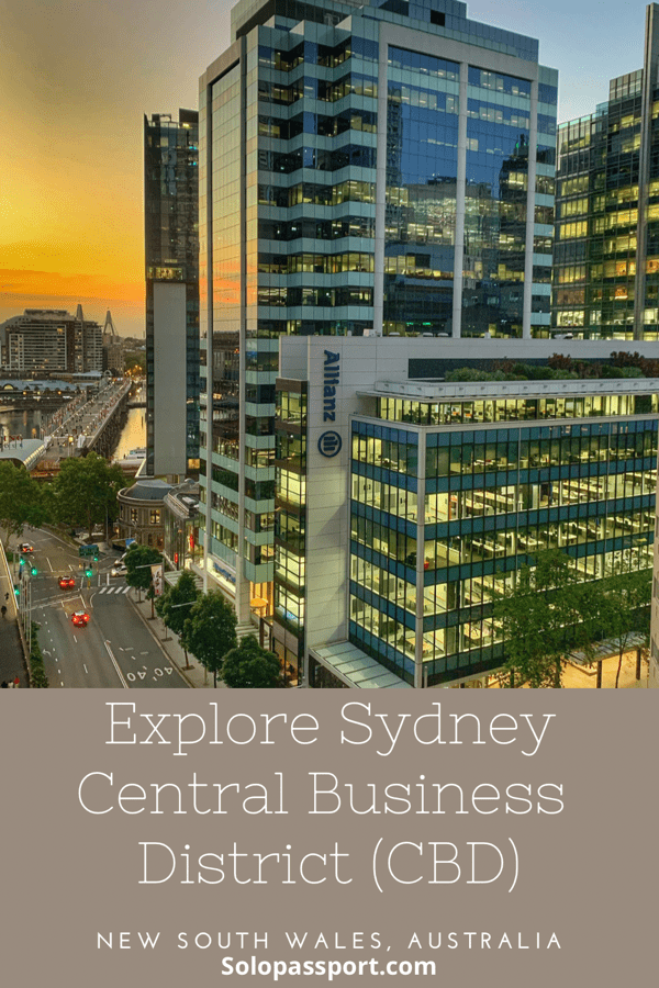 PIN for later reference - Explore Sydney Central Business District (CBD)