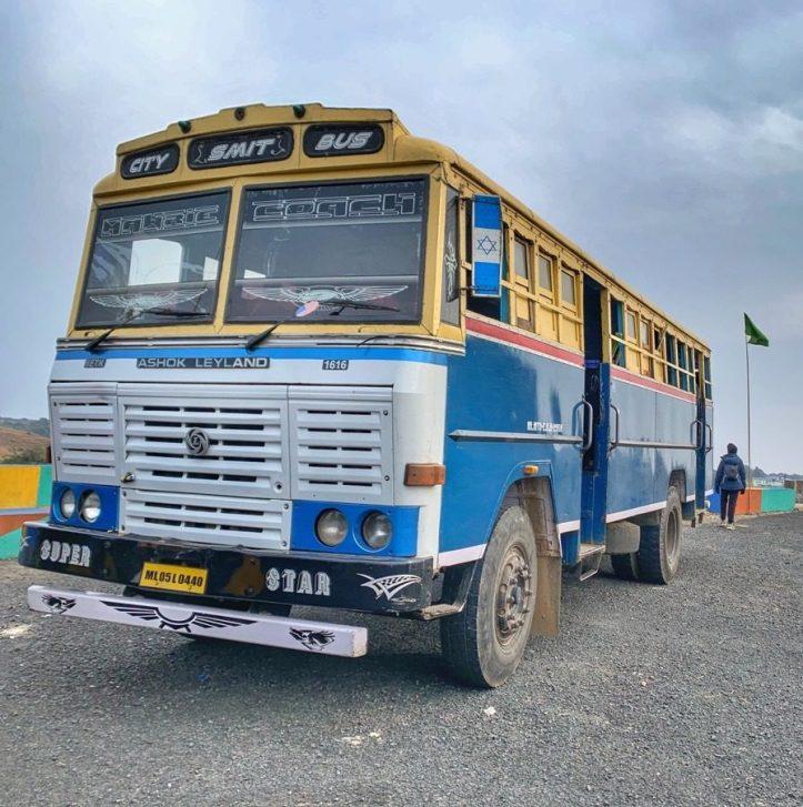 The bus in Meghalaya