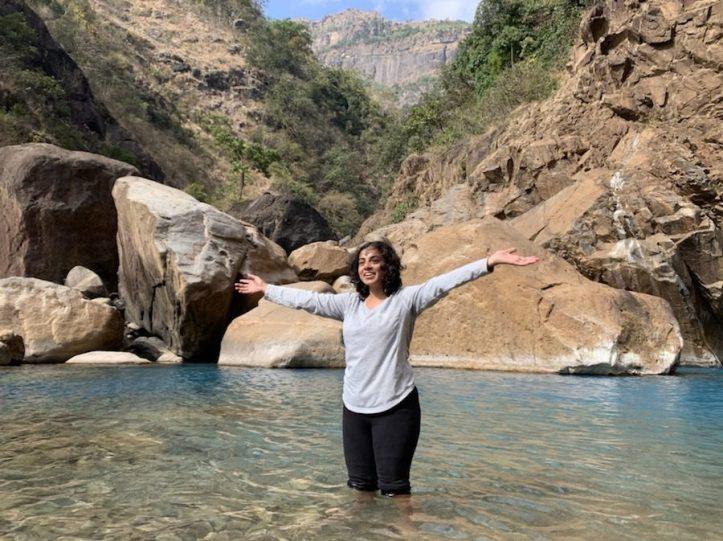 Rainbow waterfalls Meghalaya