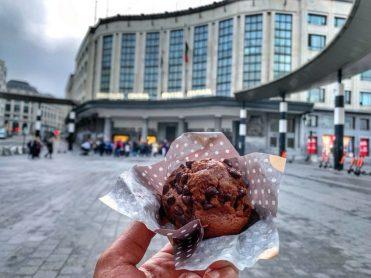Chocolate muffin in Brussels