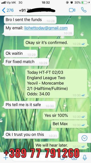 21 12 fixed match 30 odd