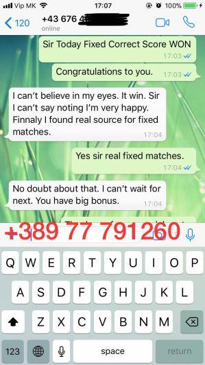 fixed match correct score proof