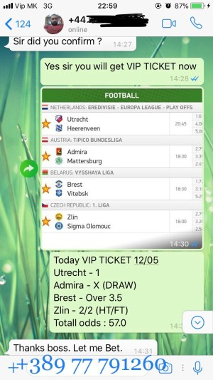 fixed matches proffs vip ticket
