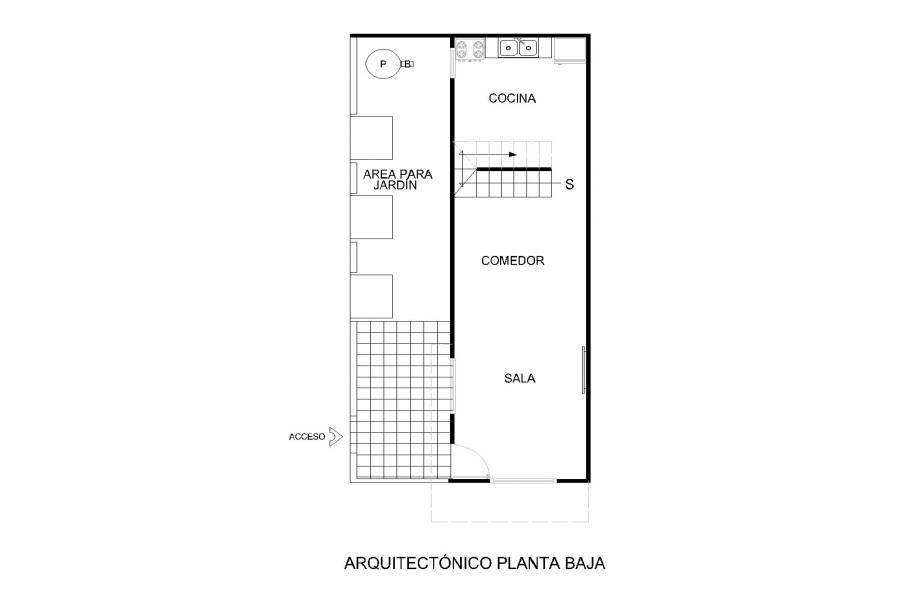 Plano arquitectónico Primer piso