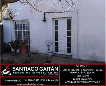 Villa Gral Savio Ex Sanchez,Buenos Aires,Argentina,1 Dormitorio Bedrooms,1 BañoBathrooms,Casas,ROQUE SAENZ PEÑA,6449