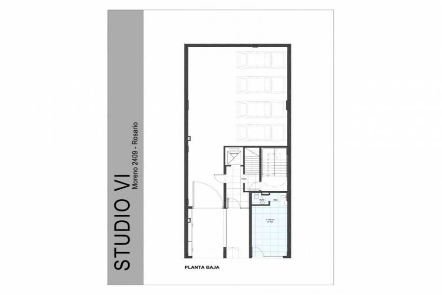 Rosario,Santa Fe,1 Dormitorio Habitaciones,1 BañoBaños,Departamentos,Studio VI,Moreno,1,1587