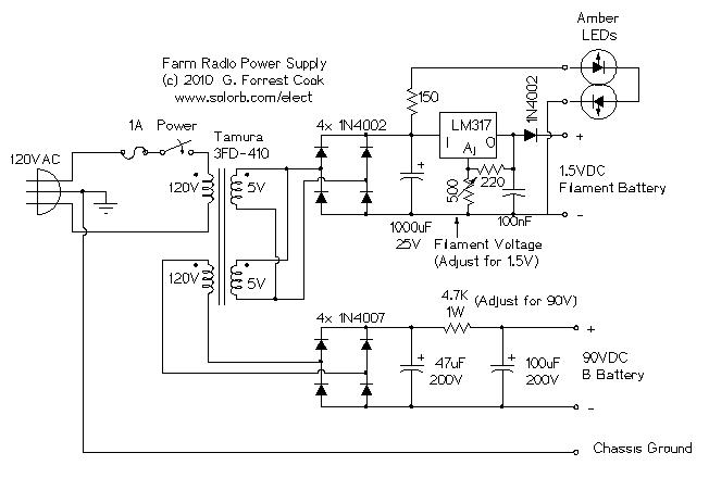 Amp Meter Wiring Diagram Battery Charger Am Farm Radio Power Supply