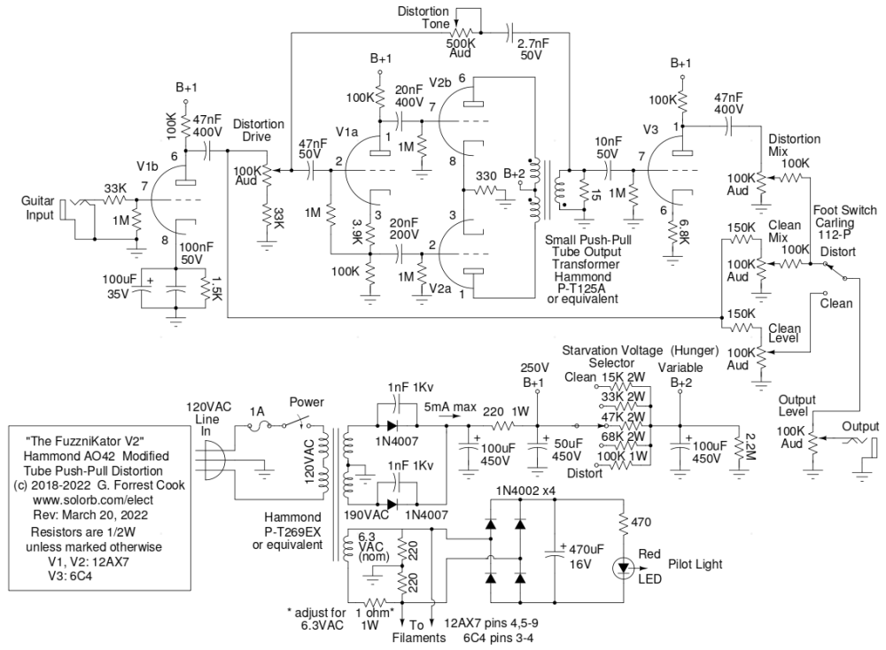 medium resolution of fuzznikator schematic
