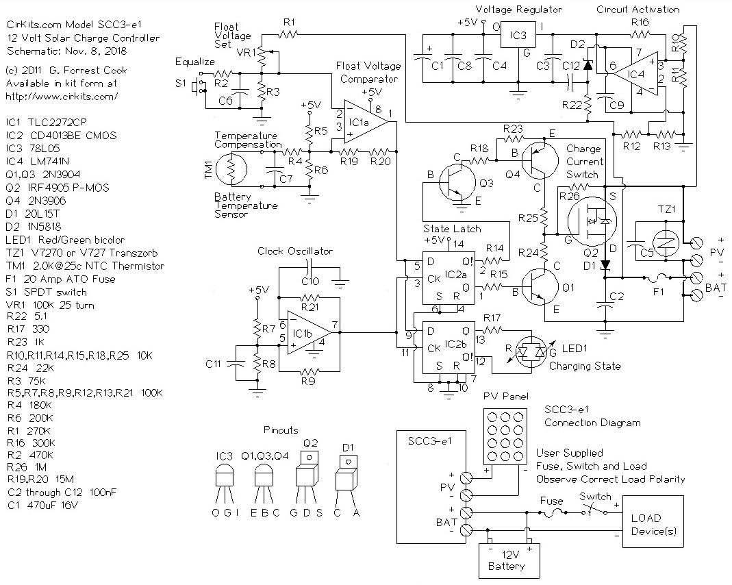 solar controller wiring diagram panel charge anonymerfo vw polo 9n radio scc3 12 volt 20 amp