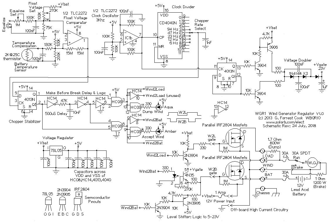 WGR1 12 Volt Wind Generator Regulator