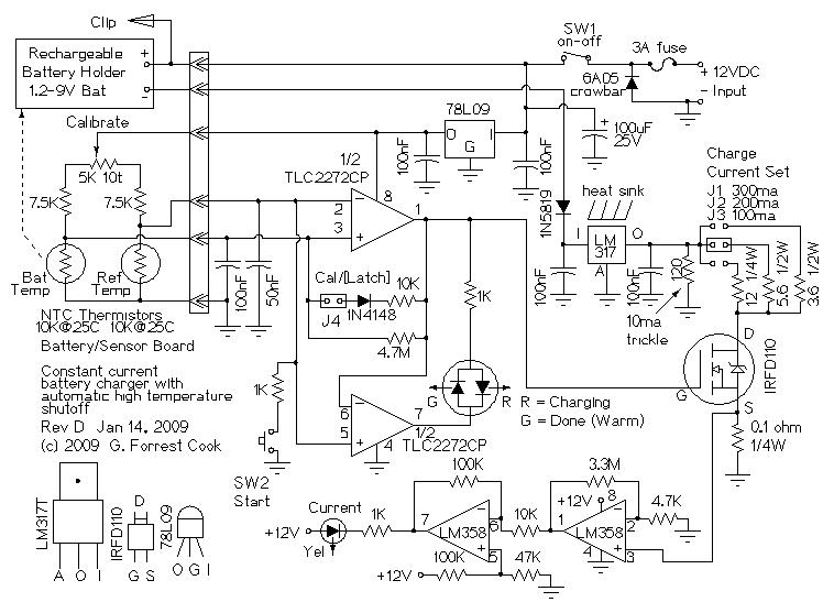 12V, 4-AA Cell Differential Temperature Charger