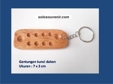 Souvenir Pernikahan Gantungan Kunci Dakon