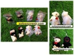 Souvenir Pernikahan Gantungan Kunci boneka bear