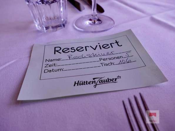 Tischreservation im Restaurant