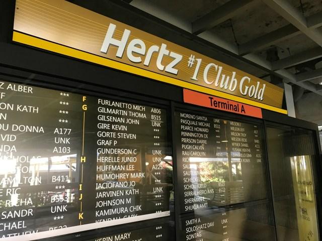 free car seat from Hertz Hertz #1 Club Gold Orlando