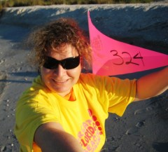 Me! Beach Mile Marker 324 at Stump Pass Beach State Park for The Great VISIT FLORIDA Beach Walk, Nov. 6, 2010