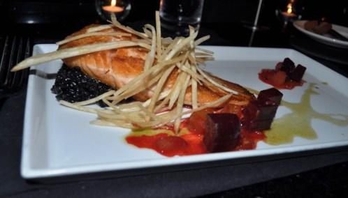 Salmon from Michael's on East, Sarasota, Fla.
