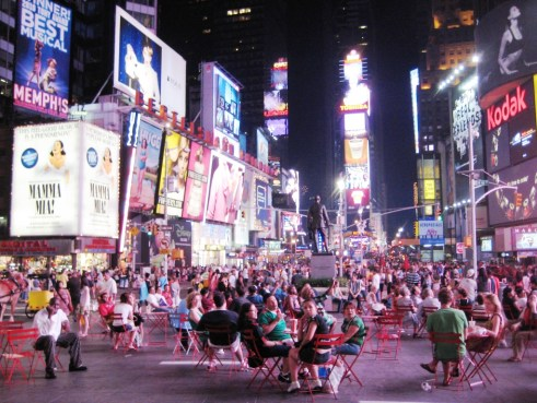 Times Square on a Sunday at Midnight, New York City
