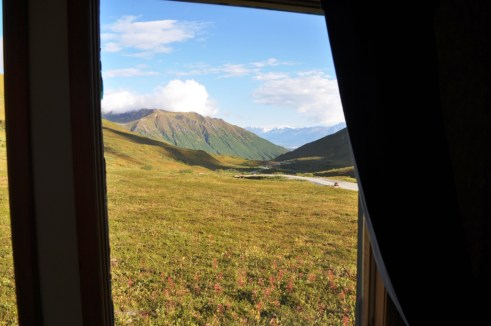 View from My Cabin at Hatcher Pass Lodge, Palmer, Alaska