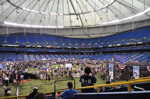 Fan Fest Attracs Thousands of Rays Baseball Fans, Tropicana Field, Feb. 18, 2012