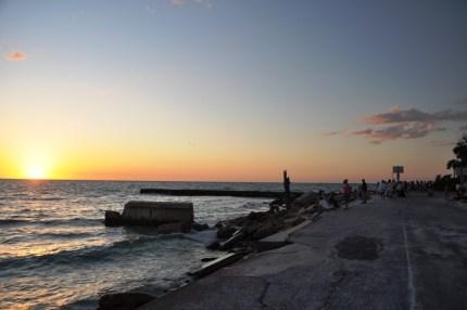 Spectators Getting Ready to Watch the Sunset at Beach Road and Avenida Messina, Siesta Key, Sarasota, Fla.
