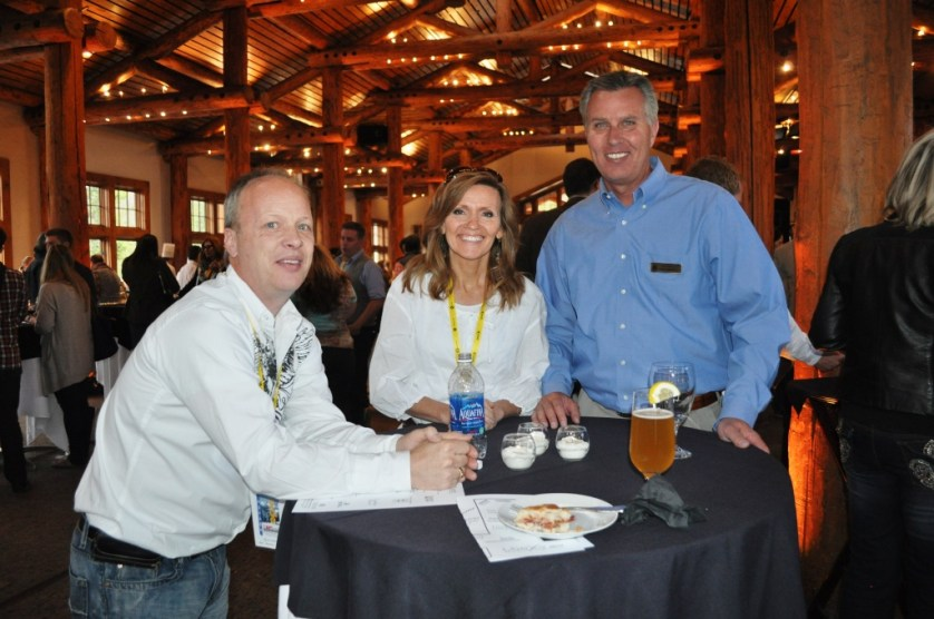 Dale & Michelle Bartlett of Have Kids - Will Travel with Our Host for the Evening, Keystone Mountain GM John Buhlerwill