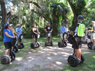 Exploring Mount Dora with Segway of Central Florida, Aug. 2012. Image Source: Rori Paul