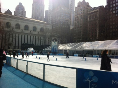 Ice Skating in Bryant Park, NYC, Feb. 20, 2013