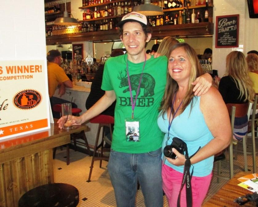 The Great Chicken Wing Hunt Director Matt Reynolds and Sarasota Film Festival Photographer, Clasico Cafe, Sarasota, Fla., April 8, 2013
